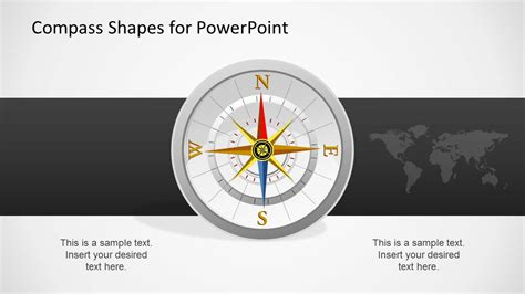 Compass Shapes For Powerpoint Slidemodel Compass Powerpoint Template