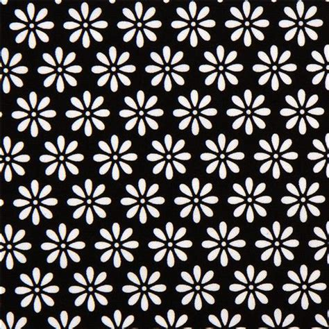 Wallpaper Black Flower 5m black fabric with flower flower fabric