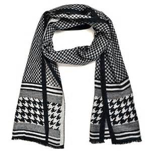 scarf pattern black and white thedappertie black and white houndstooth pattern 100
