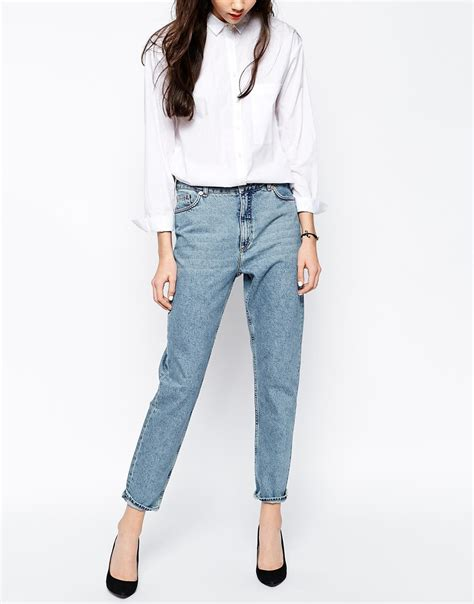 Denim Jn lyst monki kimomo denim jean in blue