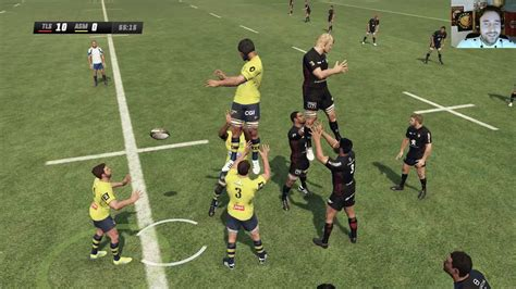 asm clermont toulouse rugby challenge 3 youtube