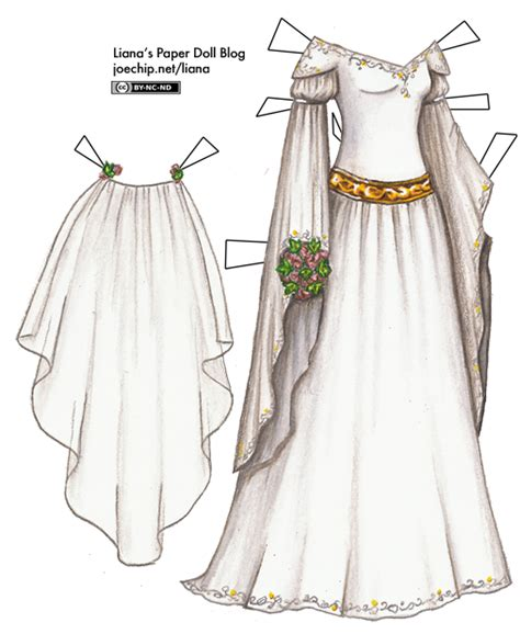 Paper Dolls With White Wedding Dresses by Wedding Dress Liana S Paper Dolls Page 2