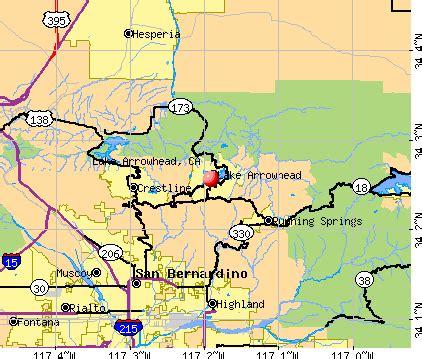 lake arrowhead california ca profile population maps