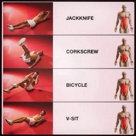 effective ab workouts saglik pinterest