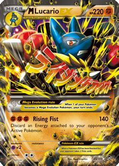 Ex M m lucario ex xy furious fists tcg card database