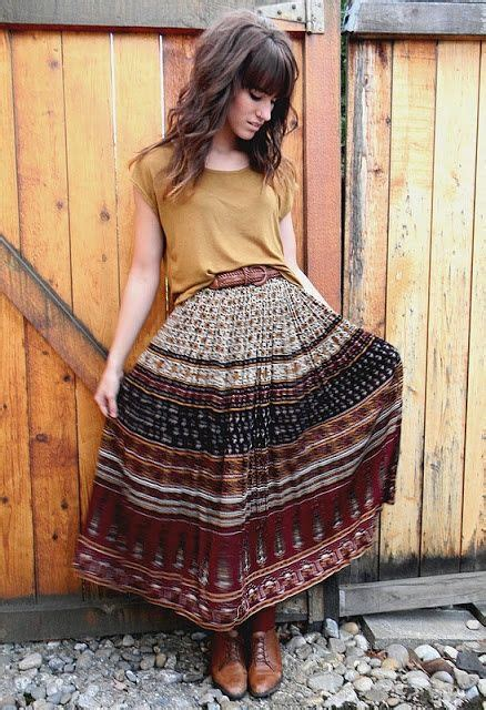gypsy skirts outfits  ideas   wear gypsy skirts