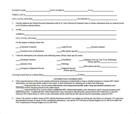 hospital release form template 12 hospital release forms to for free sle