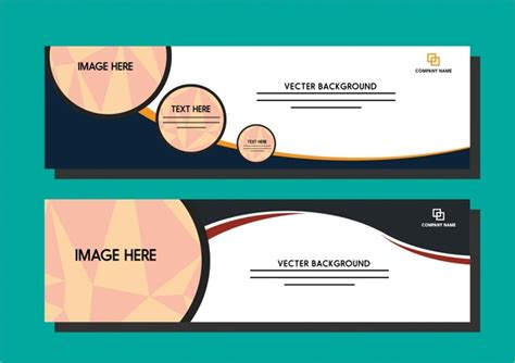design templates for banners color banner template free vector download 33 702 free