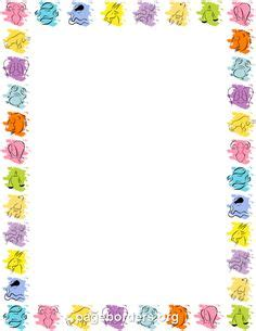 clipart per word 10 white and blue borders the designs are suitable
