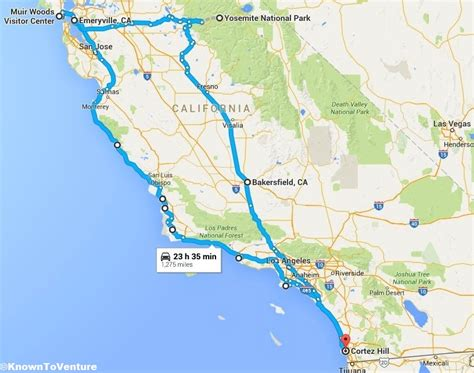california map road trip coastal california road trip known to venture