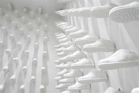 sneaker wall shops nyc camper store  nendo