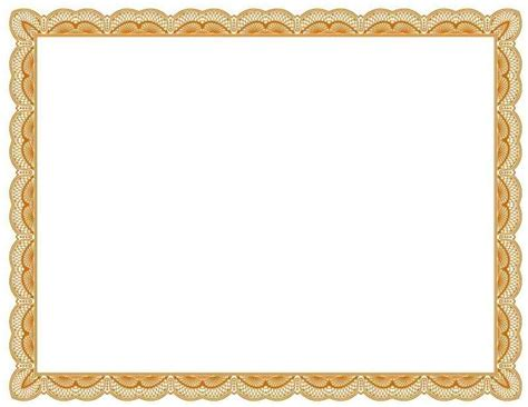 free printable certificate border templates free certificate border templates template update234