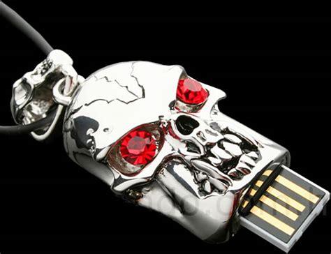 Usb Flashdisk Original Marvel human skull usb drive goes bling bling