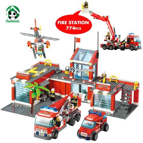 alibaba lego super large fire station 774 pcs building blocks