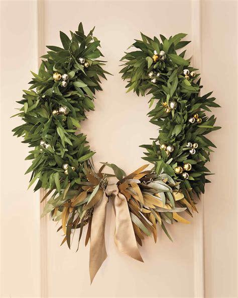 Bough Succulent metallic wreath martha stewart