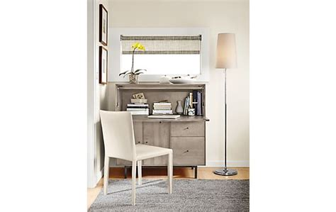 room and board office armoire hudson office armoire in shell modern office furniture