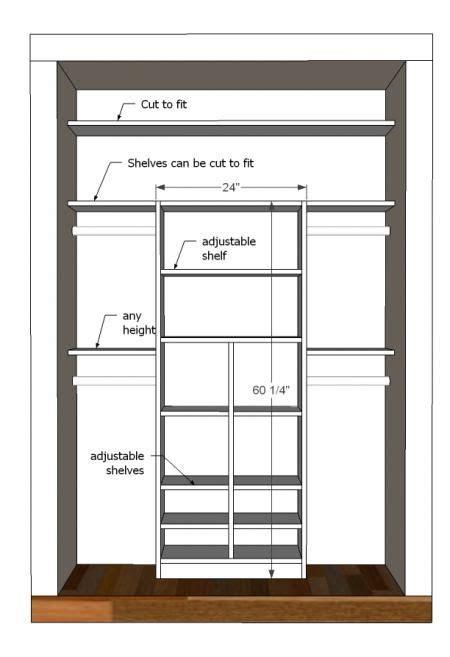 chic closet organization plans diy closet organizer plans