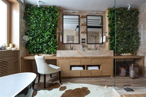eco home decor bathroom eco design with small vertical gardens