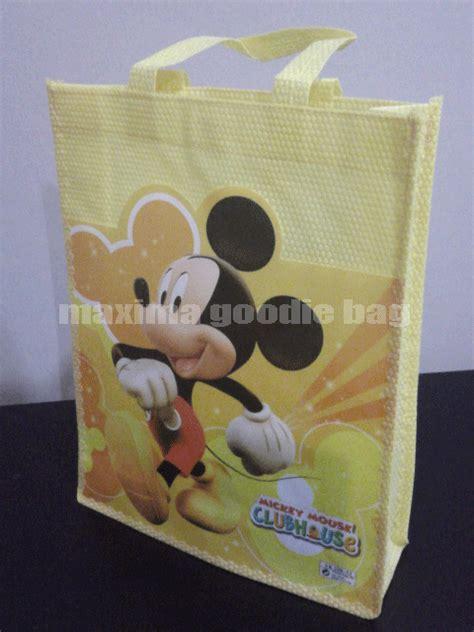 Tas Ultah Mickey Mouse 3 tas ultah kulit jeruk mickey mouse goodie bag ultah anak