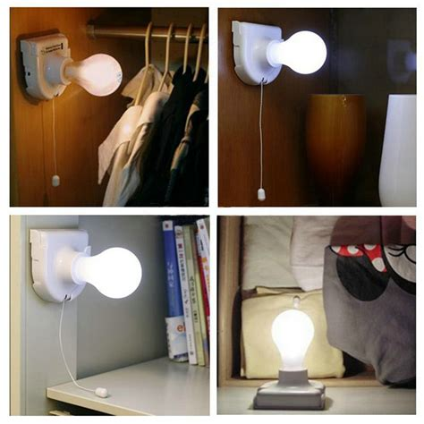 Cordless Lights For Closets stick up bulb cordless battery operated light cabinet closet l home use ev ebay