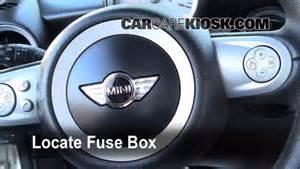 interior fuse box location 2008 2015 mini cooper 2009 mini cooper clubman 1 6l 4 cyl