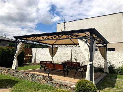 gazebo 4x6 pavillon gartenlaube metallpavillon gazebo abu dhabi 4x5 m