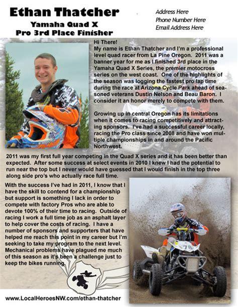 Sponsorship Letter For Riders Atv Racing Sponsorship Etiquette Atv