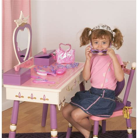 levels of discovery princess vanity table and chair set princess vanity table chair set by levels of discovery