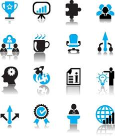 business icons free vector in adobe illustrator ai ai