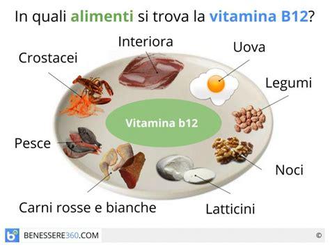 in quali alimenti si trova la vitamina c vitamina b12 a cosa serve dove si trova alimenti