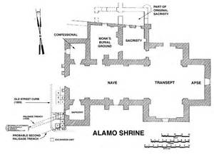 alamo floor plan the alamo mission san antonio de valero mission initiative