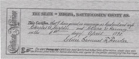 Johnson County Indiana Marriage License Records Scrapbook Generated By Family Tree Heritage