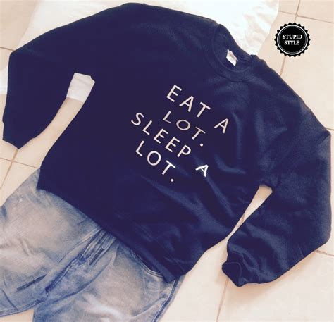 Jaket Sweater Hoodie Jumper Eat Sleep Futsal eat a lot sleep a lot black sweatshirt jumper gift cool