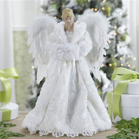 christmas decorations 16 5 quot white angel tree topper