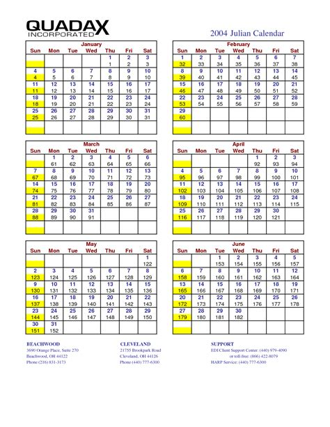 printable calendar 2016 with julian dates 4 best images of julian date calendar 2016 printable