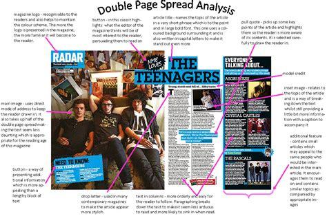 magazine layout glossary analysis of existing magazines lucy s media blog
