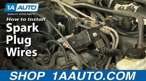 install replace spark plug wires aautocom youtube
