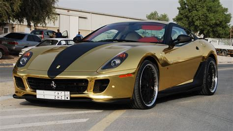 chrome ferrari ferrari 599 gold chrome foilacar