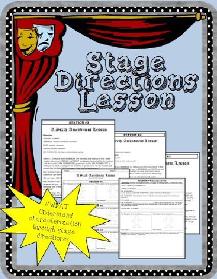 printable stage directions stage directions worksheet free worksheets library