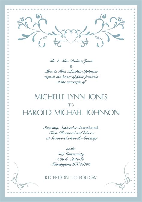sle wedding invite wording sle wedding invitation card