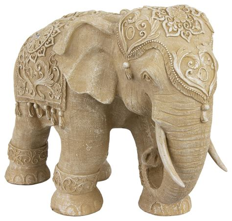 20 quot ivory elephant statue traditional home decor by oriental furniture
