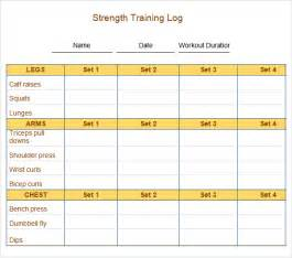 workout journal template sle workout log template 8 in word pdf psd