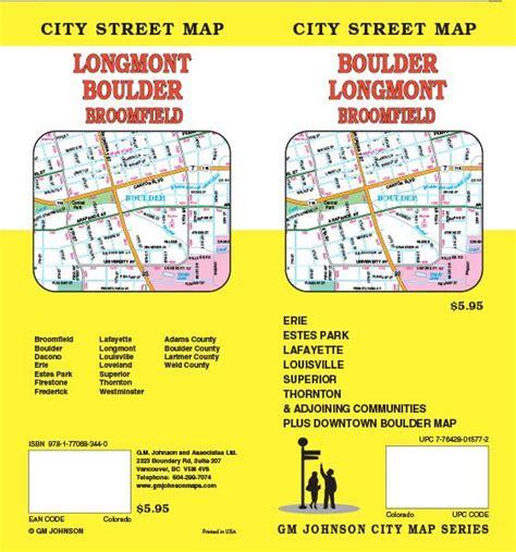 longmont co map colorado maps catalogue gm johnson maps