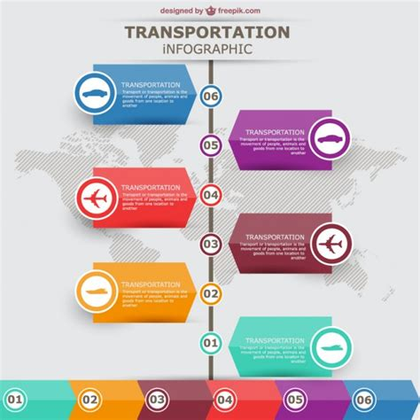 free layout graphic design transportation vector infographic labels design vector