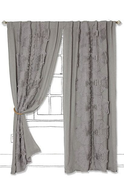 tunnel tab curtains textured tributary curtain anthropologie 148 208 00