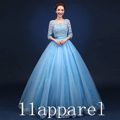 Import Dress Ds2965 White Blue sky blue lace quinceanera dresses gown beading prom wedding gown ebay