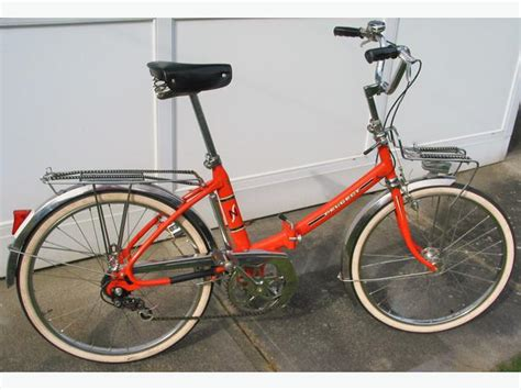 Peugeot Bike For Sale by Quot Orange Quot Peugeot Folding Bicycle Bike For Sale