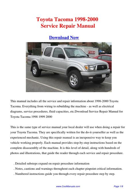best auto repair manual 2000 toyota tacoma xtra electronic toll collection toyota tacoma 1998 2000 repair manual by hong ling issuu