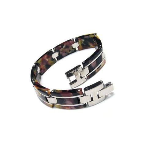 s boys titanium rubber bracelet charm bangle
