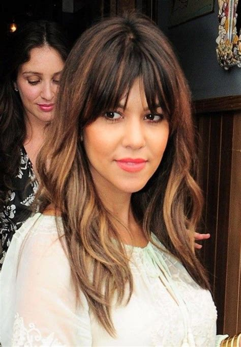 images of ombre hairstyles with fringes 12 pretty long layered hairstyles with bangs bangs